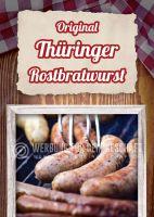 Original Thrünger Rostbratwurst Poster   Plakat für Werbeaufsteller