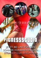 Fitnessstudio Plakat | Werbetafel für Fitnessstudio