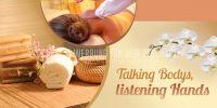 2:1 | Talking Bodys Poster | Werbeposter für Massagen | 2 zu 1 Format