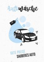 Autowäsche Poster | Werbeposter für Autoreinigung
