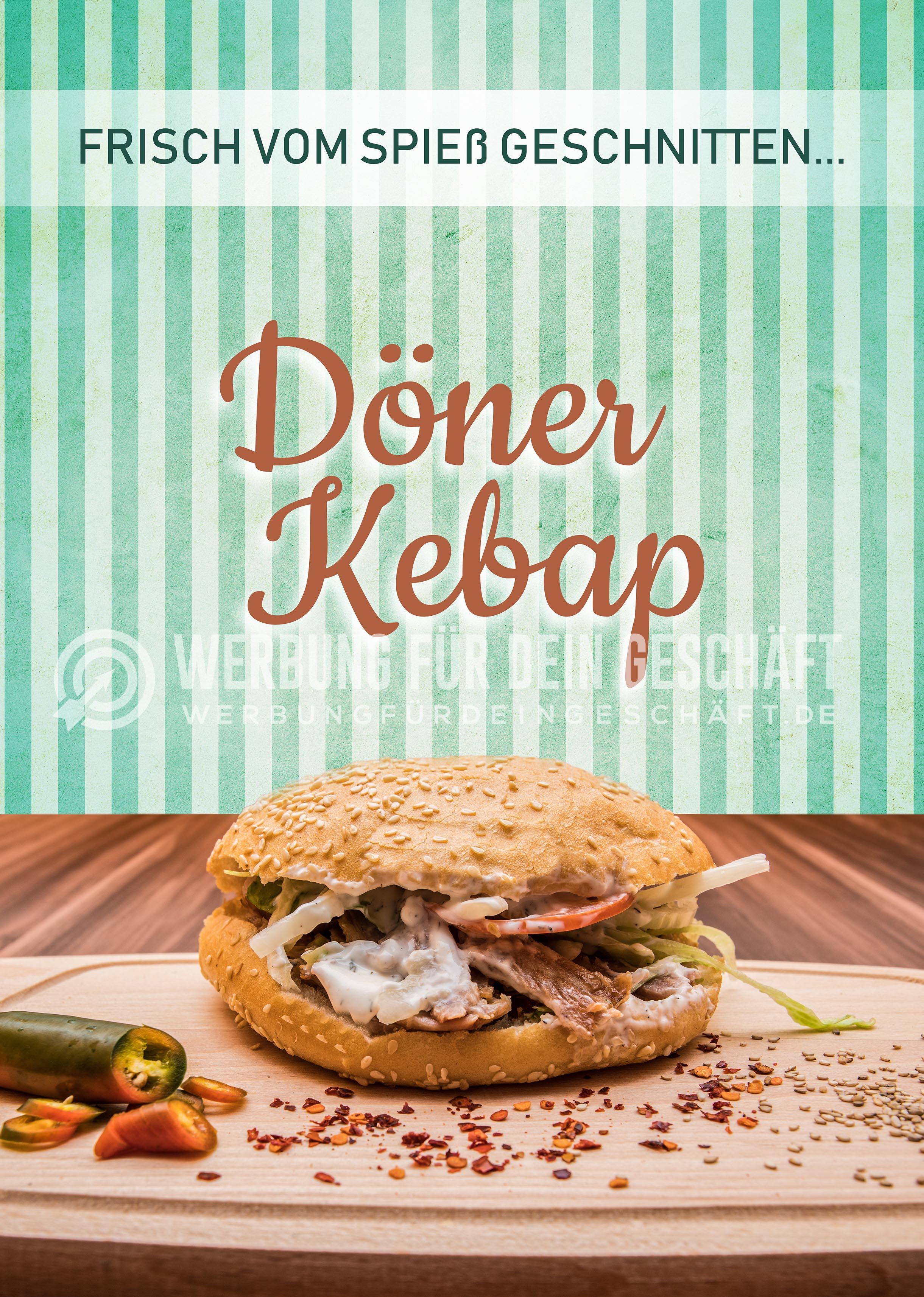 Plakate DIN A1 Werbung Kundenstopper 2 x Döner Kebab Poster