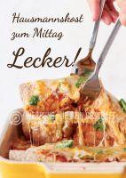 Hausmannskost zum Mittag Werbeplakat | Poster auch in DIN A 0