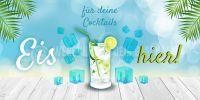 2:1 | Eis für deine Cocktails Plakat | Werbebanner für Eis | 2 zu 1 Format