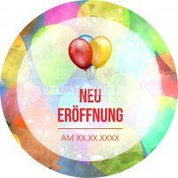 Rund | Neu Eröffnung Plakat | Werbeschild für Neueröffnungen | Rundformat