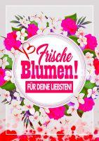 Frische Blumen Poster