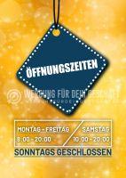 Öffnungszeiten 2 Poster | Werbeplakat für dein Geschäft