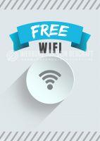 Free WIFI Poster | Werbeplakat für Plakatständer