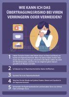 Übertragungsrisiko verringern Plakat | Poster kaufen