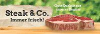 3:1 | Steak und Co. Immer frisch Poster | Werbetafel für Fleischerei | 3 zu 1 Format