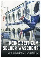 Keine Zeit zum Waschen Poster | Plakat für Reinigungsservice