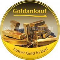 Rund | Goldankauf Poster | Sofort Geld in Bar! | Rundformat