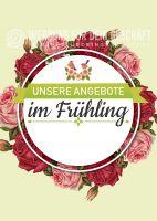 Angebote im Frühling Plakat | Werbeschild für Geschäfte