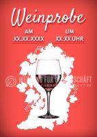 Weinprobe Poster   Werbeschild für Evente