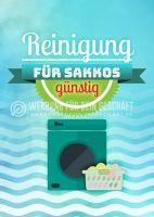 Reinigung für Sakkos Plakatwerbung | Poster auch in DIN A 0