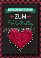 Geschenke und Gutscheine Poster | Werbeplakat Valentinstag