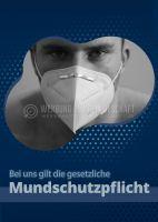 Mundschutzpflicht Hinweisschild | Plakat