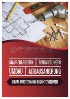 Bauunternehmen Werbebanner   Poster