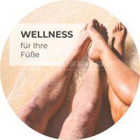 Rund | Wellness für Ihre Füße Werbetafel | Plakat für Fußpflege | Rundformat