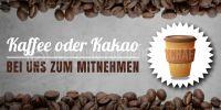 2:1 | Kaffee oder Kakao Plakat | Werbebanner Kaffee | 2 zu 1 Format
