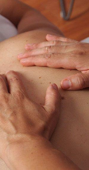 Hände bei einer Massage