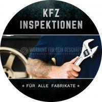 Rund | KFZ Inspektion für alle Fabrikate Plakat | Werbeposter online drucken | Rundformat