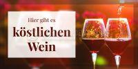 2:1 | Köstlicher Wein Poster | Werbetafel für Wein | 2 zu 1 Format