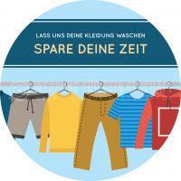 Rund | Lass uns deine Kleidung waschen Poster | Werbeplakat für Reinigung | Rundformat