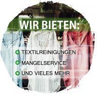 Rund   Reinigungsservice Plakat   Werbeplakat für Textilreinigung und mehr   Rundformat