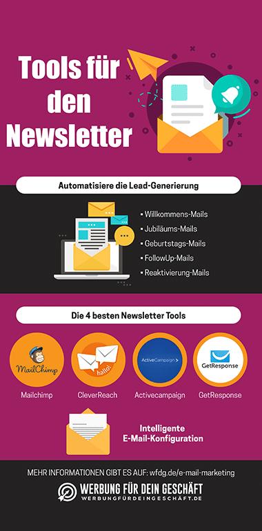 Tools für den Newsletter Infografik