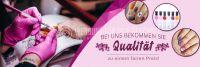 3:1 | Qualität zum fairen Preis Poster | Werbetafel für Nagelstudios | 3 zu 1 Format