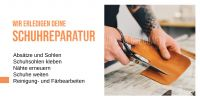 2:1 | Wir erledigen deine Schuhreparatur Poster | Plakat online drucken | 2 zu 1 Format