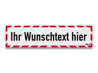 Reflektierendes Schild mit Wunschtext