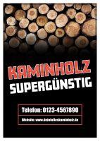 Kaminholz supergünstig Werbeposter   Poster kaufen
