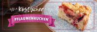 3:1   Köstlicher Pflaumenkuchen Plakat   Werbeplakat für Bäckerei   3 zu 1 Format