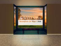 Sichtschutzfolie | Folie Wellness Blumen | Wellnessblumen Motiv