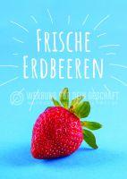 Frische Erdbeeren Plakat | Werbe-Plakat für Erdbeeren