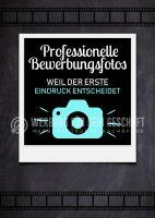 Bewerbungsfotos Plakat | Werbebanner für Fotogeschäft