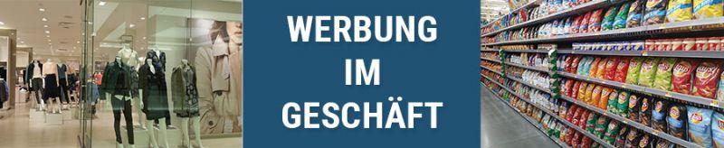 Banner für Werbung im Geschäft
