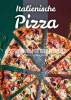 Italienische Pizza Werbebanner | Poster online drucken