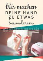 Deine Hand etwas besonderes Plakat | Werbeplakat für Nageldesign