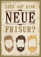 Lust auf eine neue Frisur Poster | Plakat für Werbeaufsteller