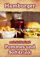 Hamburger auch als Menü Poster | Auch für Plakatständer