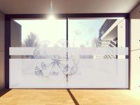 Sichtschutzfolie   Fensterfolie Pusteblume von oben   Pusteblumenmotiv
