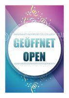 Geöffnet / Open Werbebanner | Plakat online drucken