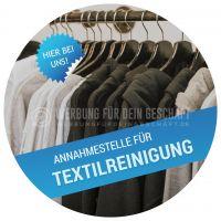 Rund | Annahmestelle für Textilreinigung Werbetafel | Poster kaufen | Rundformat