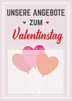 Angebote zum Valentinstag Plakat | Werbeplakat für dein Geschäft