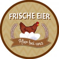Rund | Frische Eier Poster | Werbeschild für Eierverkäufer | Rundformat