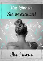 Ihr Friseur Plakat | Werbeschild für Friseure