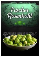 Frischer Rosenkohl Poster | Werbetafel Rosenkohl