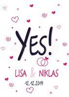 Yes Plakat | Poster für Plakatständer